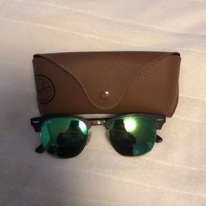 Ray Ban club master sunglasses with green lenses